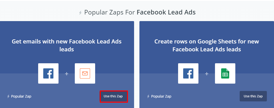Get emails with new Facebook Lead Ads leads